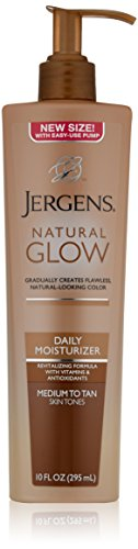 Jergens Natural Glow Daily Moisturizer, Medium to Tan Skin Tones, 10 Ounce Pump