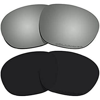 153505af4a 2 Pairs BVANQ Polarized Lenses Replacement Black   Black Mirror for Oakley  Garage Rock OO9175 Sunglasses