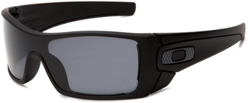 Oakley Men's Batwolf Polarized Rectangular Sunglasses,matte Black Framegrey Lens,one Size