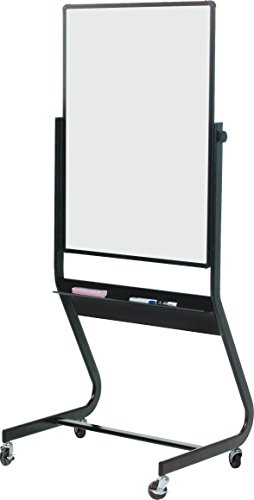 Best-Rite Euro Reversible Mobile Dry Erase Easel, Double Sided Porcelain Steel Markerboard, 40 x 30 Inch Panel (667RU-DD) (Markerboard Sided Double)