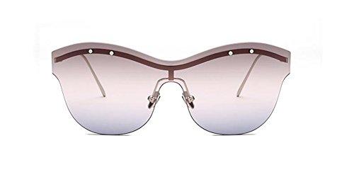 inspirées lunettes Lennon style en du de métallique vintage polarisées cercle retro de Gradient soleil rond Poudre wtHqrtxTa