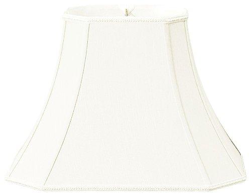 (Royal Designs Rectangle Bell w Cut Corners Designer Lamp Shade, White, (6.25 x 8) x (11 x 16)12 )