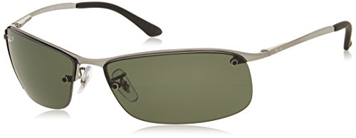 Ray-Ban RB3183 - GUNMETAL Frame POLAR GREEN Lenses 63mm - Ray Sunglasses Ban Deals