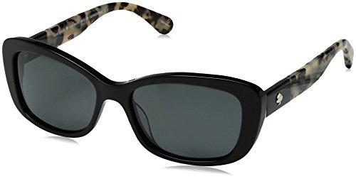 - Kate Spade Women's Claretta/p/s Polarized Rectangular Sunglasses, Black Havana, 53 mm