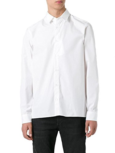 Kenzo Homme F755CH8401FA01 Blanc Coton Chemise