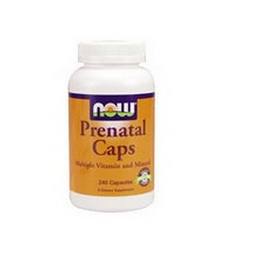 NOW Foods Prenatal Capsules Vitamin  W/ Iron, 240 Capsules