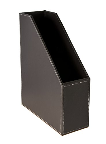 Osco Faux Leather Magazine Rack - Brown Faux Leather Magazine Rack