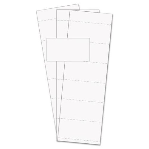 MasterVision Magnetic Accessory Data Card Insert, White, 500 per Pack (FM1513) Bi-silque 9144213