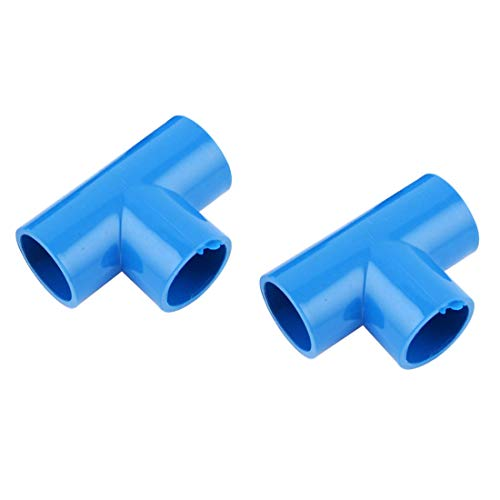 - LDEXIN 2pcs 25mm/1inch ID PVC Tee 3 Way Pipe Fittings Connector Coupler T Shape Elbow Fitting Blue