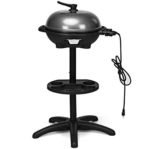 Cozinest Electric BBQ Grill 1350W Non-Stick 4 Temperature Setting Outdoor Garden Camping