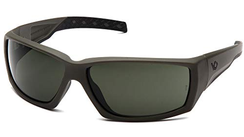 (Venture Gear Overwatch Shooting Safety Sunglasses, OD Green, Forest Gray Anti-Fog)