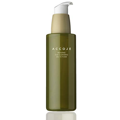 Jeju Cleansing Peeling Gel To Foam, Revitalizing Facial Cleanser for Sensitive and Oily Skin, Removes Sebum and Dead Skin [ACCOJE] (Best Korean Foam Cleanser For Oily Skin)
