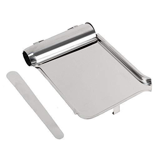 Stainless Steel Pill Counting Tray with Spatula 8.46 x 5.90 x 1.37. Pill Sorting Tray. Antimicrobial Prevents Odors Molds and Bacteria. Medical Instrument Tray. Ideal for Pharmacy to Count Meds.
