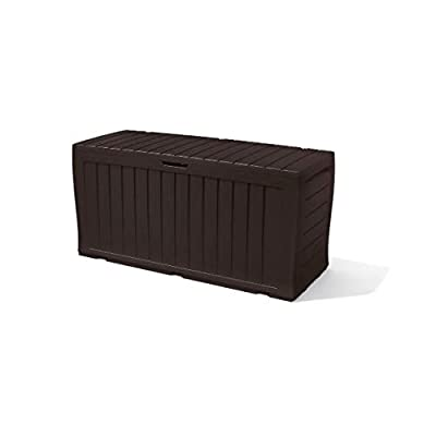 Image of 90Gal Storage Deck Box – Perfect For Xtreme Use And Weather Conditions – Indoor Or Outdoor – Great Storage For Patio, Garden, Pool Area, Yard, Child Room, Bedroom, Gym, Playroom, Garage or Basement Home and Kitchen