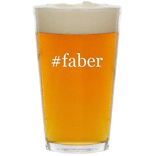 #faber - Glass Hashtag 16oz Beer Pint for sale  Delivered anywhere in USA