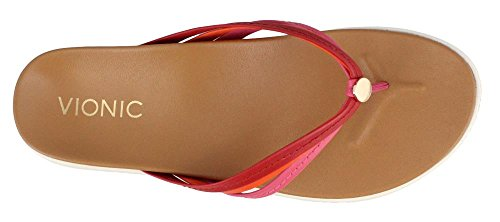 Women's Vionic Pink Orthaheel Catalina with Red Sandal aax4gHw