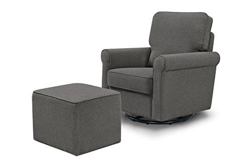 Davinci Maya Swivel Glider with Ottoman, Dark ()