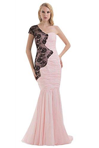 Rosa Neuer GEORGE Ein Entwurf BRIDE Kleid langes SchulterChiffon Meerjungfrau 8qF1Aw