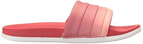 c7e2cc50e adidas Performance Women's Adilette CF+ Armad W Athletic Sandal, Scarlet/ White/Haze Coral S, 8 M US