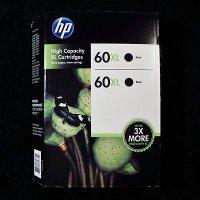 HP 60XL CR341 High Capacity Ink Cartridges (Black, 2-Pack) in Retail Packaging