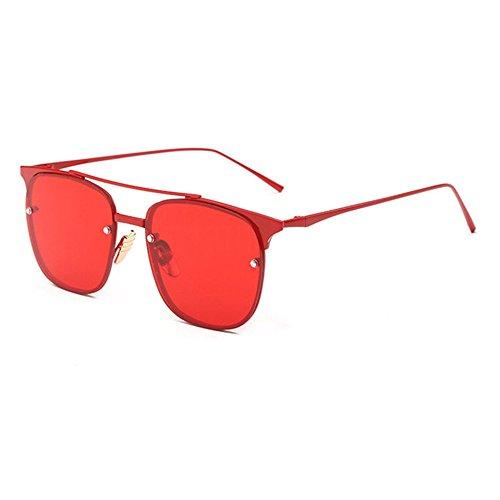 Aoligei Lunettes de soleil femme marée style star lunettes rondes Dame de lunettes de soleil de couleur rond visage yeux rétro coréen E