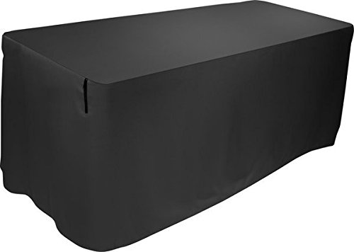 (Ultimate Support Ultimate 6-Feet Attractive Pleat-Free Form-Fitting Table Cover, Black (USDJ6TCB))