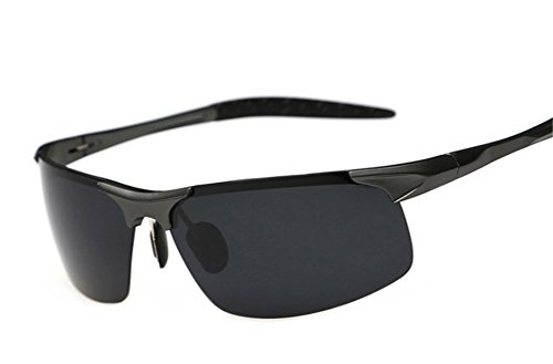 GAMT Polarized Sports Sunglasses Rimless UV400 Protection for Men Women Cycling Riding Running Glasses Black