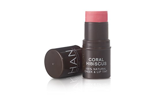 HAN Skin Care Cosmetics Natural Cheek and Lip Tint, Coral Hibiscus