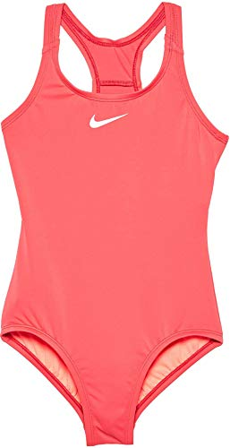 Nike Girl's Racerback Sport Swimsuit (Tropical Pink, 10) ()