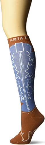 Ariat Women/'s Brown Western Boot Socks A10009399
