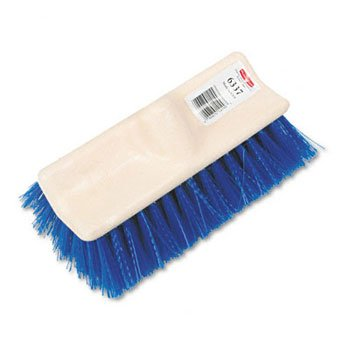 Floor Scrub, Plastic Block, Bi-Level, Polypropylene Fill -- 6 Per Case ()