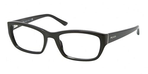 Prada PR18OVA Eyeglass Frames 1AB1O1-54 - Gloss Black PR18OVA-1AB1O1-54