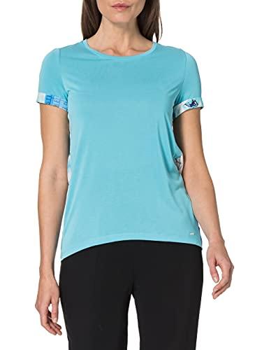 Taifun Womens 1/2 Arm T-Shirt, Blue Curacao Gemustert, 36