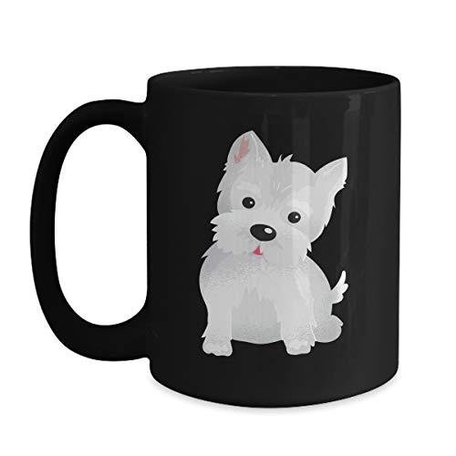 (Westie Lover Gift - Cute Animal Face Designs - 11oz Black Coffee | Tea Mug)