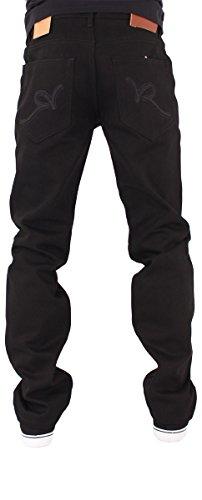 Nero Grigio Uomo Blu Jeans R Rocawear Larga Denim Doppio Vestibilità wzdqc08xF