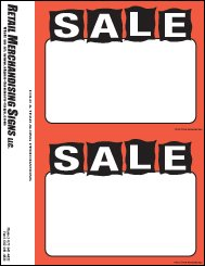 FZB102 Fluorescent Laser Price Cards Sale PC Printable 3 Sizes Available 100 8 1