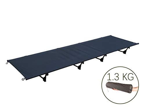 DESERT WALKER Camping cots, Outdoor Bed Ultra Lightweight Bed Portable cot Free Storage Bag Included,2.8 Pounds (Black)