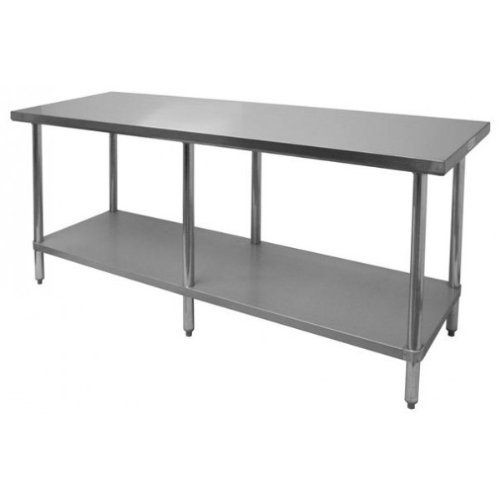 Thunder Group SLWT43084F, 30x84x35-Inch Stainless Steel Flat Top Worktable, Food Prep Table, Commercial Kitchen Work Table by Thunder Group