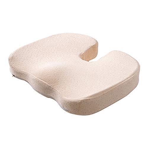 (Transser Coccyx Orthopedic Memory Foam Seat Cushion - Non-Slip Comfort Enhanced Gel for Tailbone Pain - Office Chair Car Seat Cushion - Sciatica & Back Pain Relief (G) )