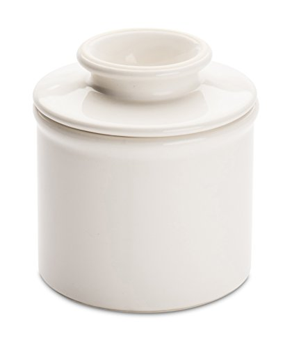 American Mug Pottery Butter Keeper/Butter Dish, Made in USA, White ()