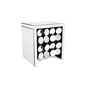 Zuri Furniture Onyx Mirrored Modern Accent Chest