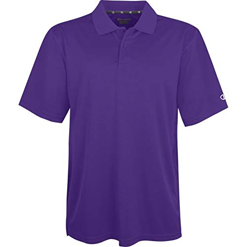 Champion Men`s Double Dry® Solid-Color Polo Shirt,H131-V,2XL,Purple ()