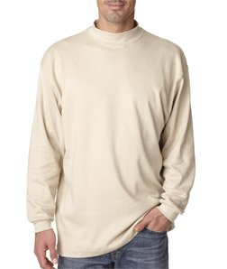 UltraClub mens Egyptian Interlock Long-Sleeve Mock - 2012 Fashion Mens
