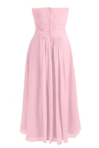vestito da da sera damigella Chiffon Chic d'onore Rosa Line abito Sunvary Sweetheart A 1SwXnCq
