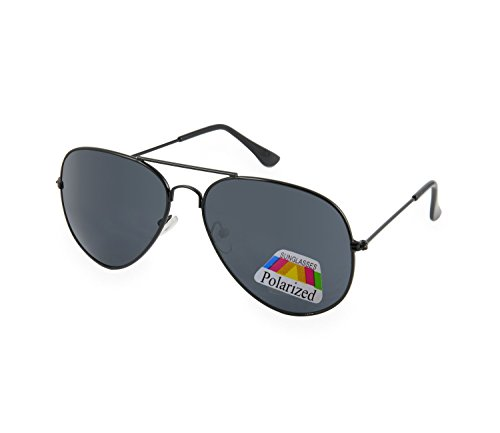 Aviator Lunettes de soleil miroir polarisée Sunglasses mirror UNISEX Homme Femme (Aviator Black polarized) MFAZ Morefaz Ltd hpz5cdfy