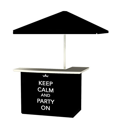 Best of Times Portable Standard Bar Table, Keep Calm and Party On - Standard Portable Bar