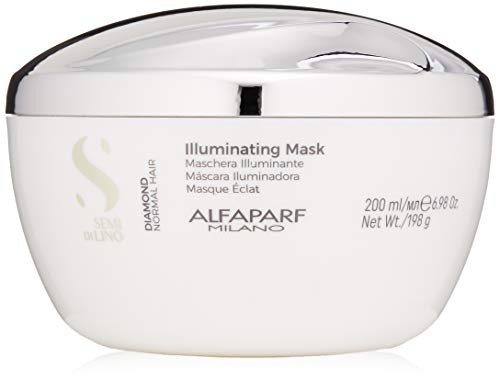 Alfaparf Milano Semi Di Lino Diamond Illuminating Hair Mask - Color Safe Deep Conditioner for Color Treated Hair - Adds Shine and Body - Sulfate, Paraben and Paraffin Free - Professional Salon Quality