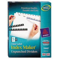 AVE11443 - Avery Index Maker Clear Label Divider