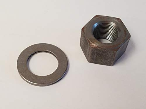 Big Dog Motorcycles Transmission Shaft Nut & Washer - 2005-11 (Left Thread) by Big Dog Motorcycles
