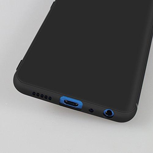 Funda para Huawei Honor 9 Lite , IJIA Puro Negro Gradiente De Color Rosa Atrapasueños TPU Silicona Suave Cover Tapa Caso Parachoques Carcasa Cubierta Case para Huawei Honor 9 Lite (5.65) Black-DUO5